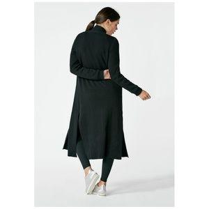 JUSTFAB Ribbed Long Cardigan in Black Size Medium